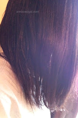 Trying out a black tea rinse during a wash day at 9 weeks post relaxer touch up. | arelaxedgal.com