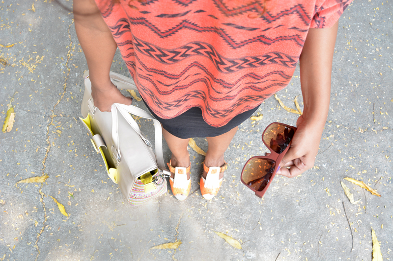 Fringe footwear brown sun glasses indian fashion bloggers