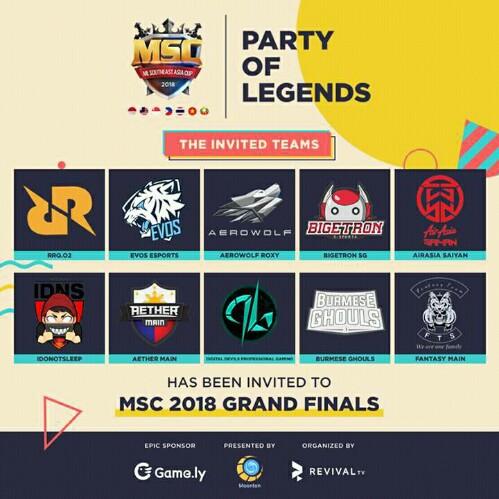 Inilah 10 Tim Yang Akan Mengikuti Turnamen MSC 2018! 3 Diantaranya Adalah Wakil Indonesia