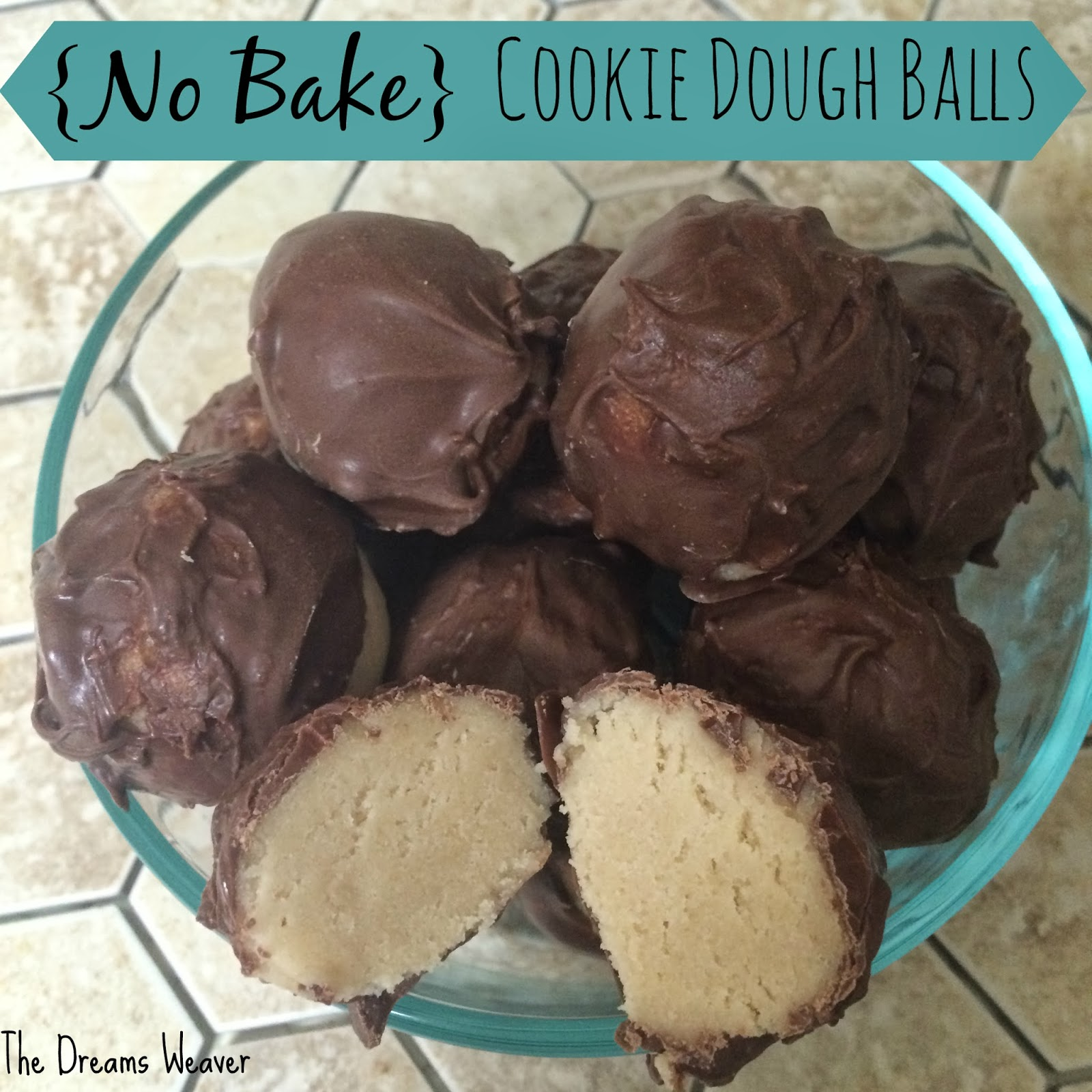 {No Bake} Cookie Dough Balls