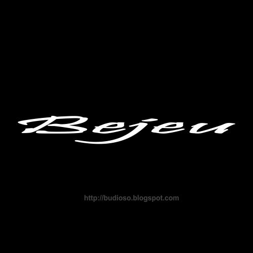 Tulisan jenis huruf bus bis Bejeu Logo bis bus Bejeu