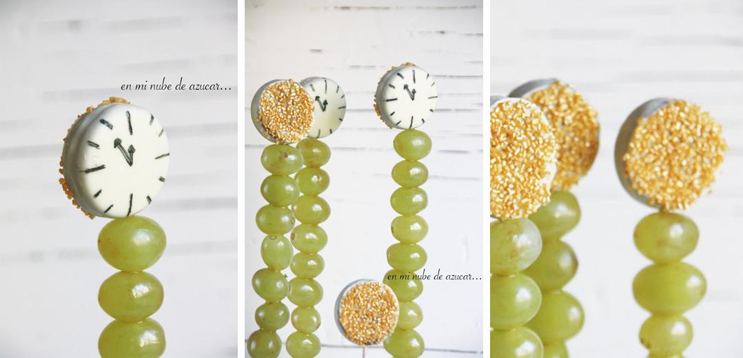 como decorar uvas para nochevieja fin de año con galleta oreo fácil y rápido