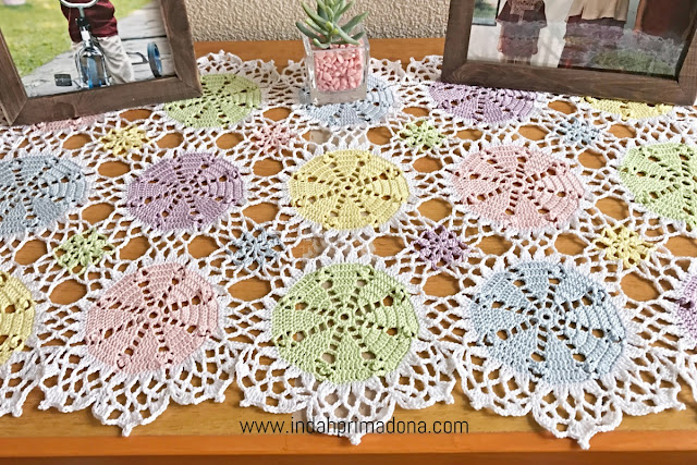crochet table runner, taplak rajut, crochet, home decor, crochet for home decor, rajutan taplak, merajut taplak