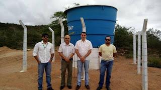 Prefeito de Picuí acompanha engenheiros da Sudene em vistoria nas obras do programa água para todos
