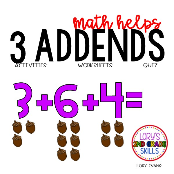 3 Addends Activities
