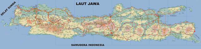 Gambar Peta Pulau Jawa Lengkap dengan keterangannya