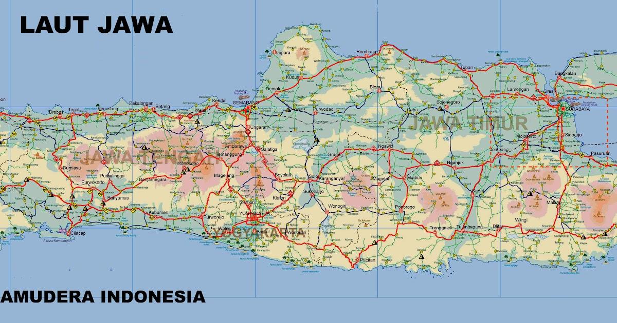 Peta Pulau Jawa Lengkap Dengan Keterangannya Peta Dunia Sejarah