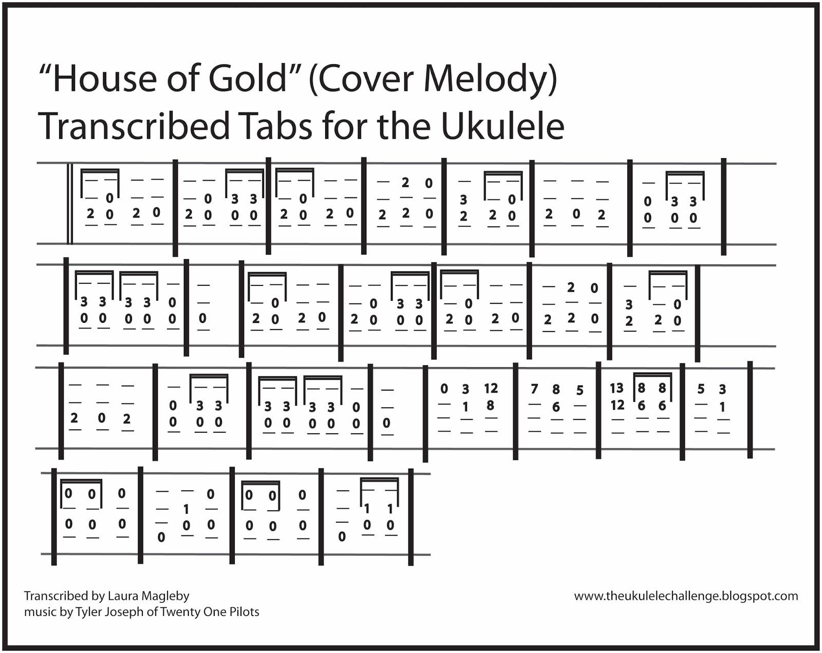House of gold ukulele house plan 2017 for House of tracks
