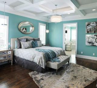 habitación turquesa