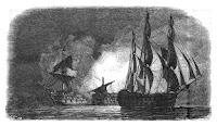 HMS Superb huyendo
