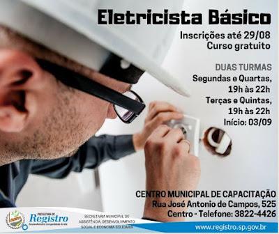 Centro Municipal de Capacitação recebe inscrições para cursos de Eletricista e Rotinas Administrativas