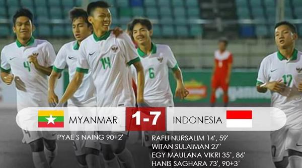 [VIDEO] Kelas, 7 Gol Timnas Indonesia U-19 Hancurkan Myanmar