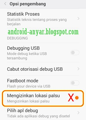 Cara Mengaktifkan dan Mematikan Lokasi Palsu Android Mock Location