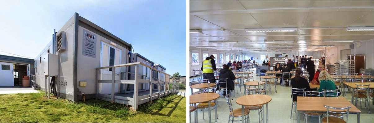 PKL temporary kitchen and dining room in university
