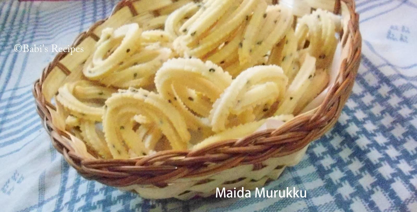 Maida Murukku (Chakli )   | Instant Murukku recipe