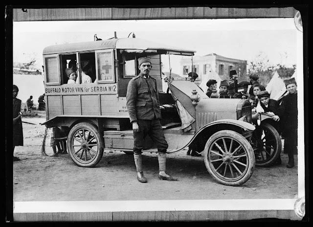 Buffalo motor van A.R.C. ambulance in Serbia