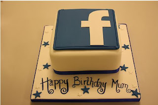 Kue Ulang Tahun Sosmed Facebook