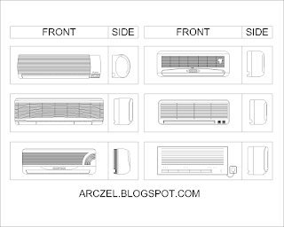 Autocad Block - Air Conditioner (AC)