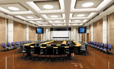 Thiết kế nội thất phòng họp lớn, sang trọng