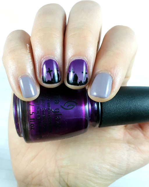 Tori's Pretty Things // Halloween Graveyard Nail Art