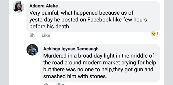 Young man stoned to death by suspected cultists in broad daylight in Makurdi
