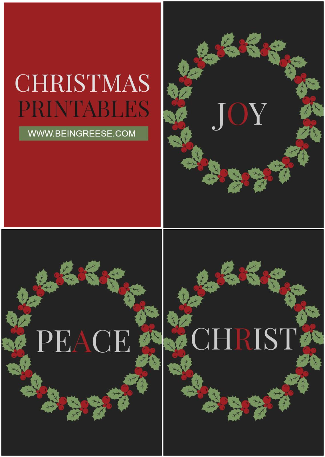 Festive Christmas Printables Set Of 3