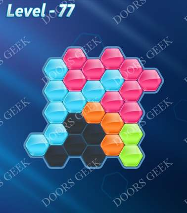 Block! Hexa Puzzle [5 Mania] Level 77 Solution, Cheats, Walkthrough for android, iphone, ipad, ipod