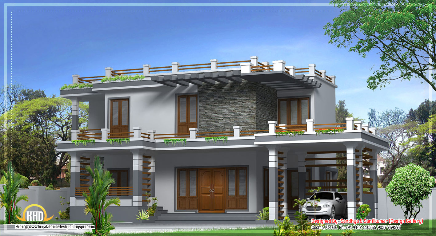 Modern home design in kerala 2520 sq ft april 2012