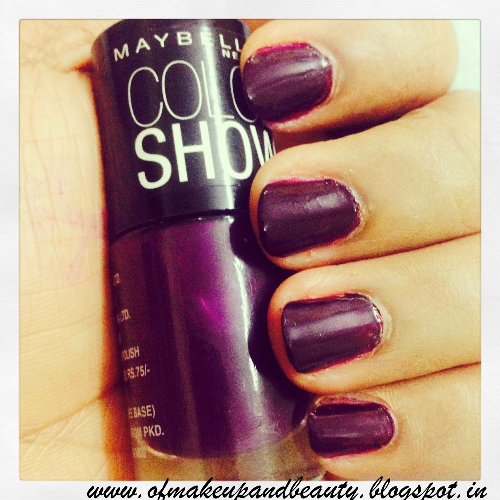 Maybelline Color Show Nail Polish - Crazy Berry !! Review and NOTD ♥