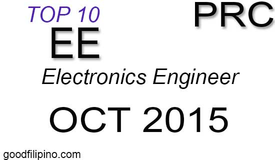 October 2015 Top 10 Electronics Engineer board exam passers