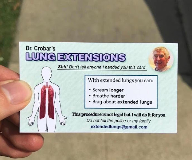 Dr Crobar Lung Extensions - funny card