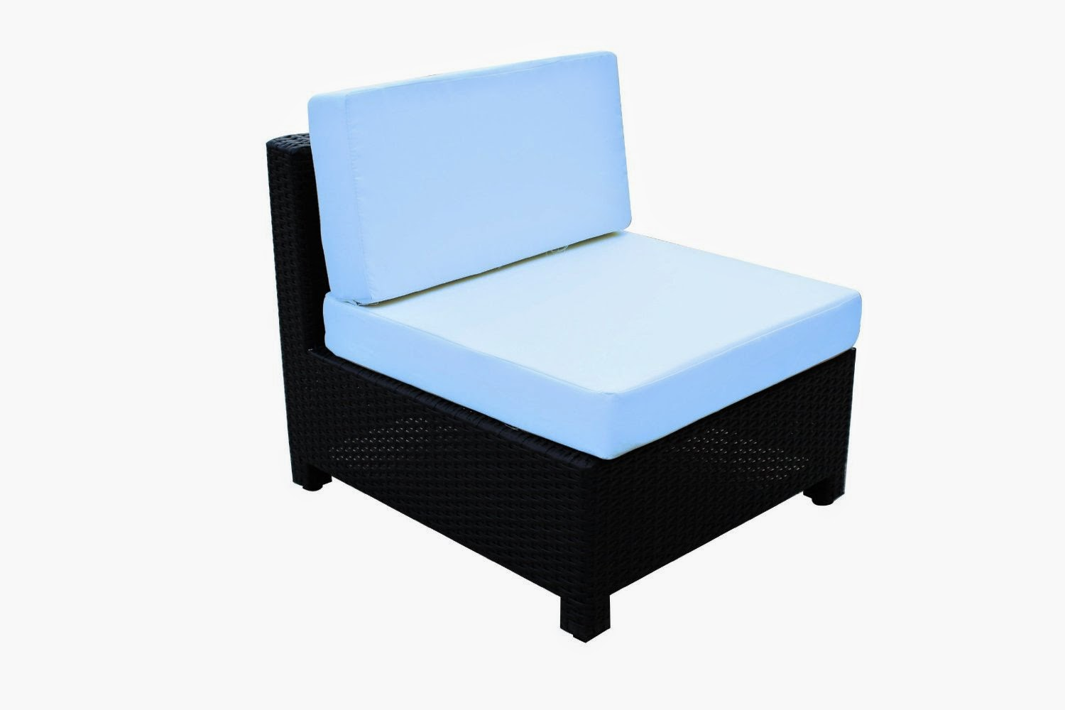 Luxury Wicker Patio Sectional Indoor Outdoor Sofa Furniture set Light Blue