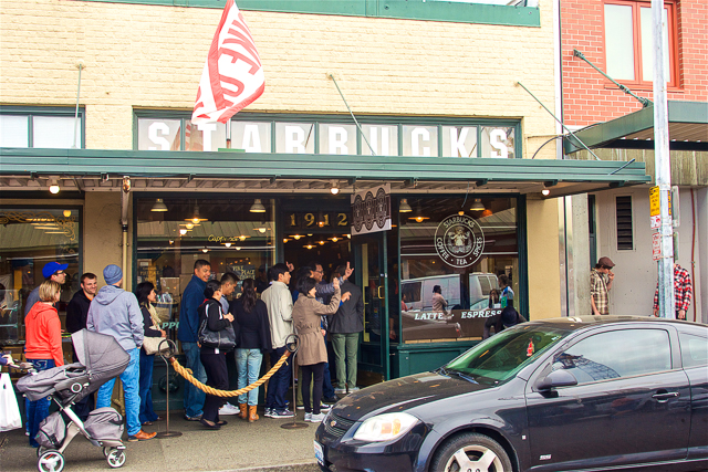 The Original Starbucks in Pike Place Market - Seattle, WA