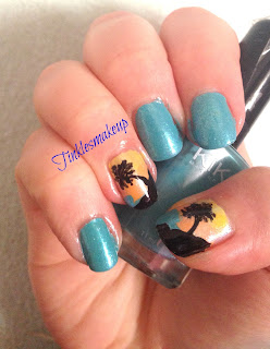 beach_at_sunset_nail_art