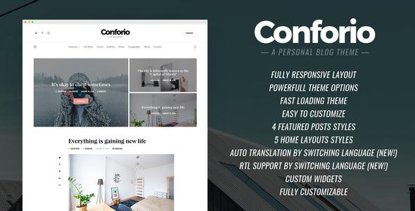 Conforio - A Personal Blogger Templates - Kaizentemplate - Rebuild ...