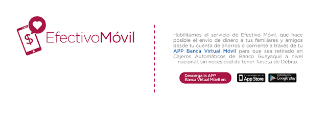 Con Banco Guayaquil envía dinero para ser retirado en cualquier cajero del país