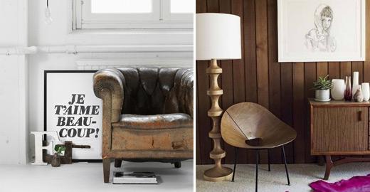 styl retro nostalgiczny klimat poprzednich epok w nowoczesnych wn trzach. Black Bedroom Furniture Sets. Home Design Ideas