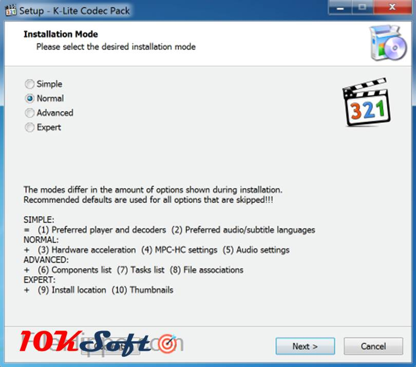 Media Player Codec Pack 4.4.5.707 Latest Version direct Download Link