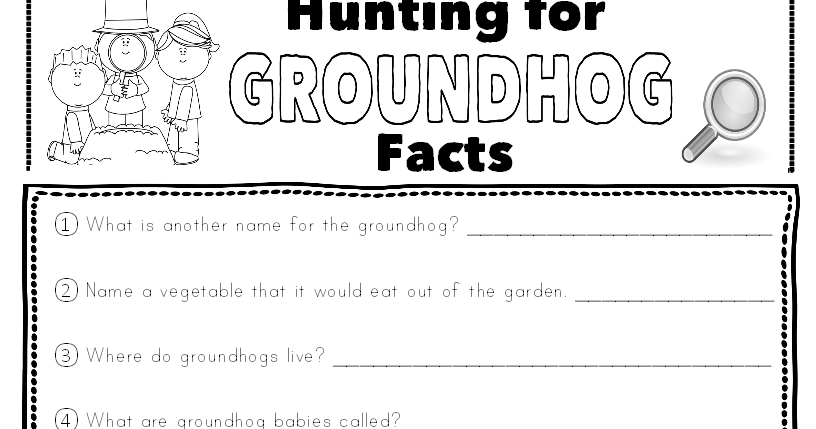Classroom Freebies Too: Hunting For Groundhog Facts