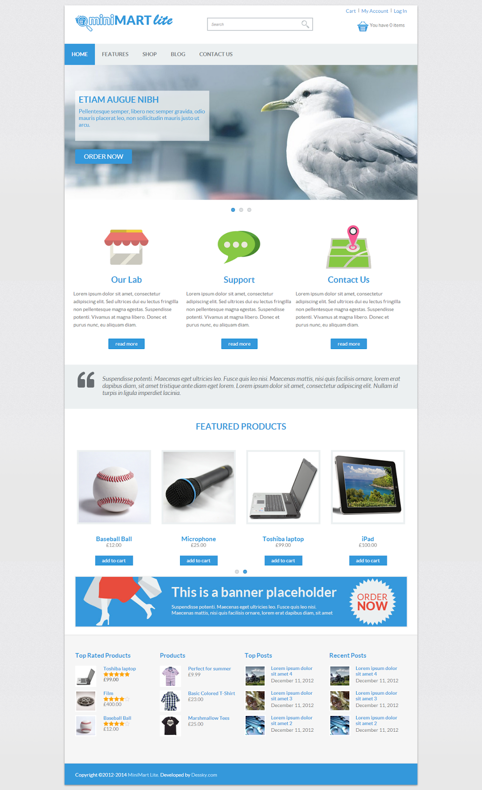 Theme Wordpress Yang Suport WooCommerce 3