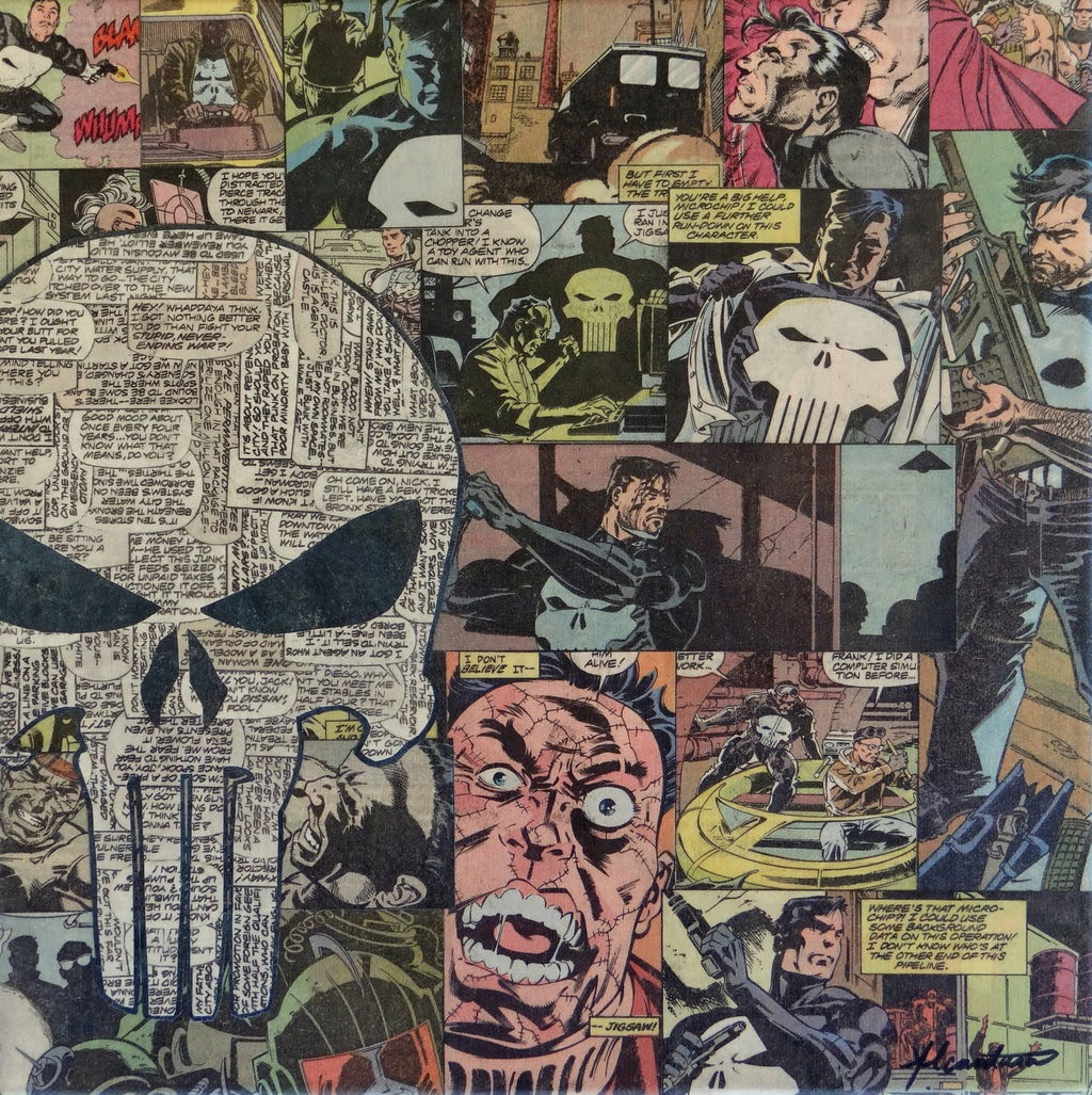 11-Punisher-Mike-Alcantara-Comic-Collage-Art-www-designstack-co