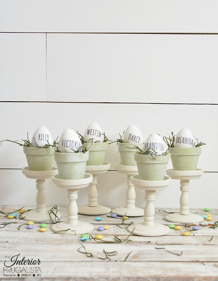 DIY French Country Place Holders For Easter