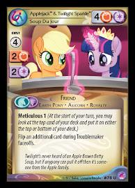 My Little Pony Applejack & Twilight Sparkle, Soup Du Jour Seaquestria and Beyond CCG Card
