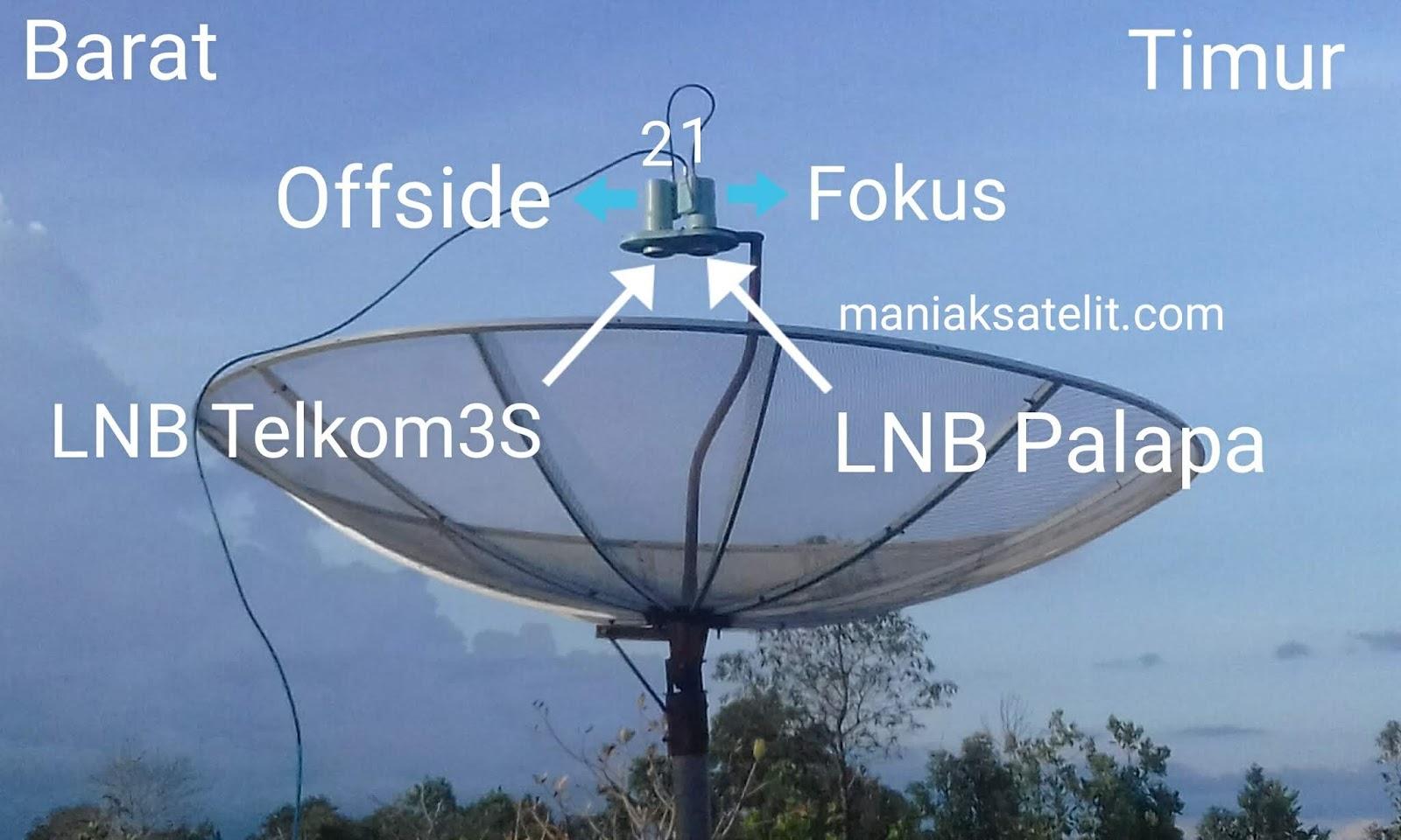 cara tracking satelit telkom 4 dan