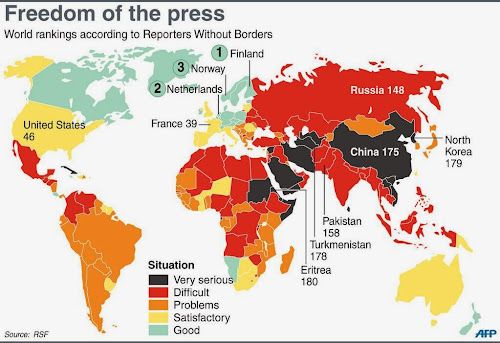US under fire in global press freedom report