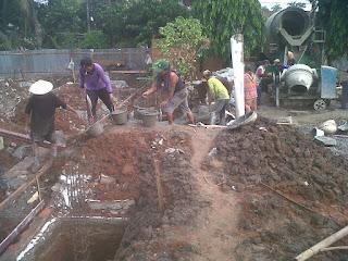 Pengerjaan rumah dinas perhubungan udara daerah juru mudi Cengkareng Banten