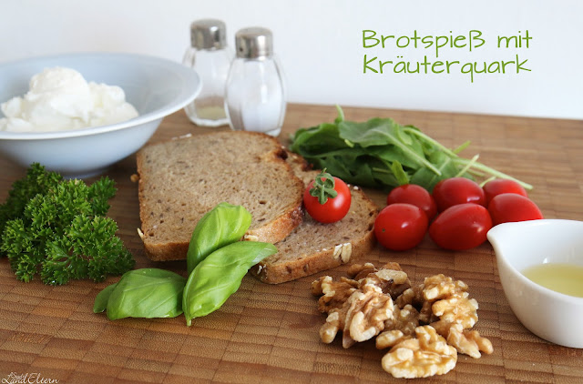 Gesundes - Pausenbrot - Brotspieß - Kräuterquark