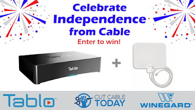Tablo 2-Tuner OTA DVR + Winegard FlatWave Mini OTA Antenna Giveaway