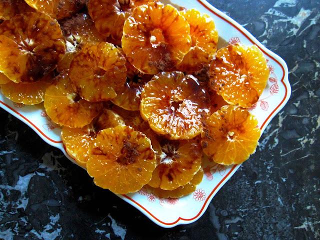 salade clémentines coulis cru miel cacao huile de noix