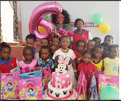 Star Actress, Kemi Afolabi Celebrates Her Beautiful Daughter On Her 6th Birthday Kemid